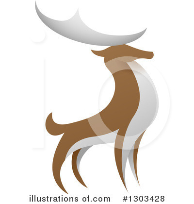 Stag Clipart #1303428 by AtStockIllustration