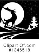 Royalty-Free (RF) Deer Clipart Illustration #1346518