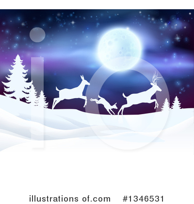 Christmas Background Clipart #1346531 by AtStockIllustration