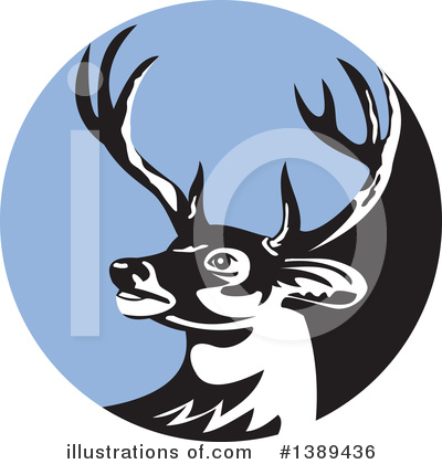 Royalty-Free (RF) Deer Clipart Illustration by patrimonio - Stock Sample #1389436