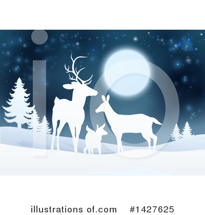 Christmas Background Clipart #1427625 by AtStockIllustration
