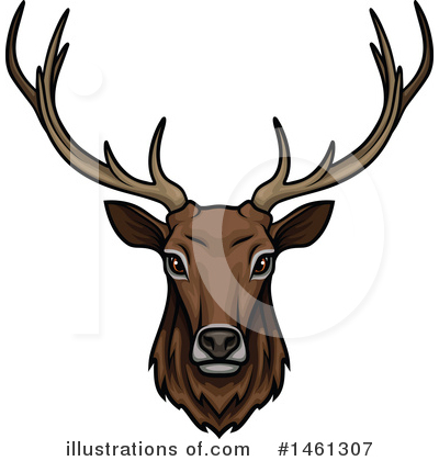 Deer Clipart #1461307 by Vector Tradition SM