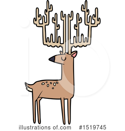 Stag Clipart #1519745 by lineartestpilot
