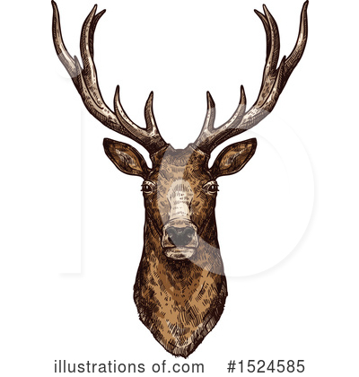 Deer Clipart #1524585 by Vector Tradition SM