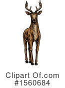 Deer Clipart #1560684 by Vector Tradition SM