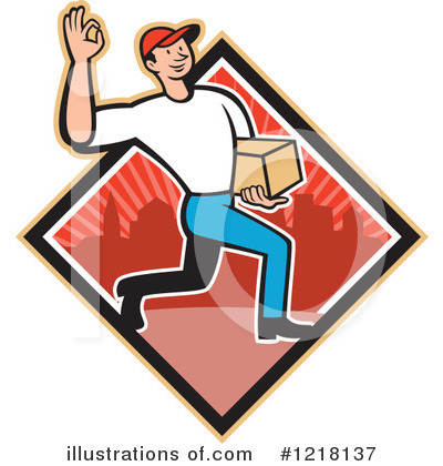 Delivery Man Clipart #1218137 by patrimonio
