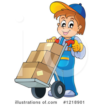 Delivery Man Clipart #1218901 by visekart