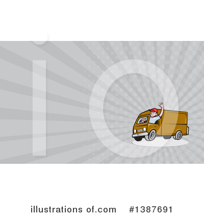 Delivery Van Clipart #1387691 by patrimonio