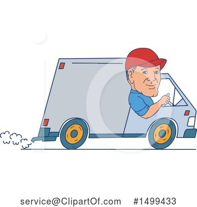 Delivery Man Clipart #1499433 by patrimonio