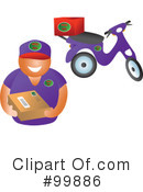 Royalty-Free (RF) Delivery Clipart Illustration #99886