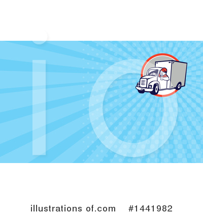 Delivery Van Clipart #1441982 by patrimonio