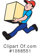 Delivery Man Clipart #1068551 by patrimonio