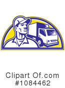 Delivery Man Clipart #1084462 by patrimonio