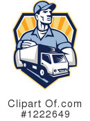 Delivery Man Clipart #1222649 by patrimonio