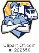 Delivery Man Clipart #1222650 by patrimonio