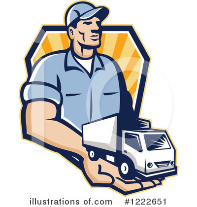 Delivery Van Clipart #1222651 by patrimonio