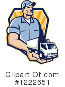 Delivery Man Clipart #1222651 by patrimonio