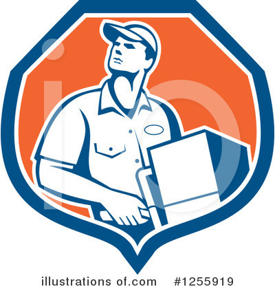 Delivery Man Clipart #1255919 by patrimonio