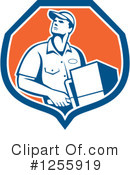 Delivery Man Clipart #1255919