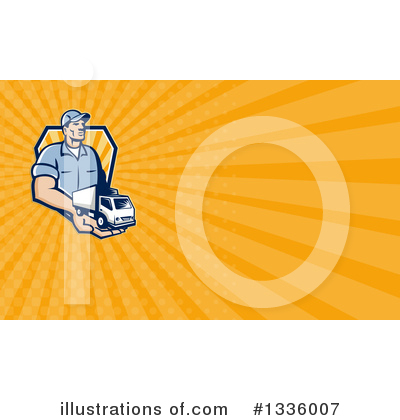 Delivery Van Clipart #1336007 by patrimonio