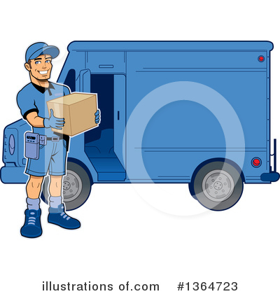 Royalty-Free (RF) Delivery Man Clipart Illustration by Clip Art Mascots - Stock Sample #1364723