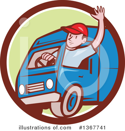 Delivery Man Clipart #1367741 by patrimonio