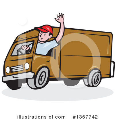 Delivery Van Clipart #1367742 by patrimonio