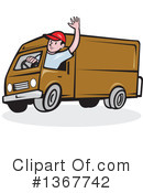 Royalty-Free (RF) Delivery Man Clipart Illustration #1367742