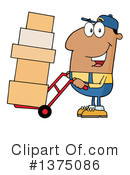 Delivery Man Clipart #1375086 by Hit Toon