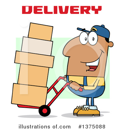 Delivery Man Clipart #1375088 by Hit Toon