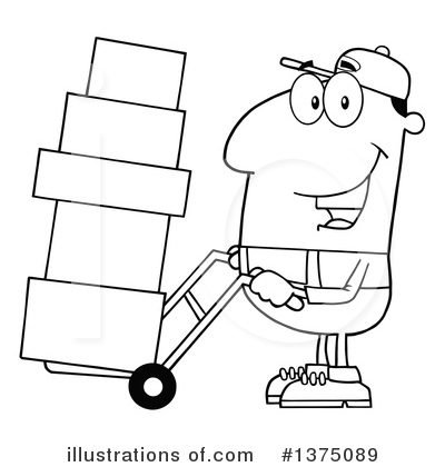 Delivery Man Clipart #1375089 by Hit Toon