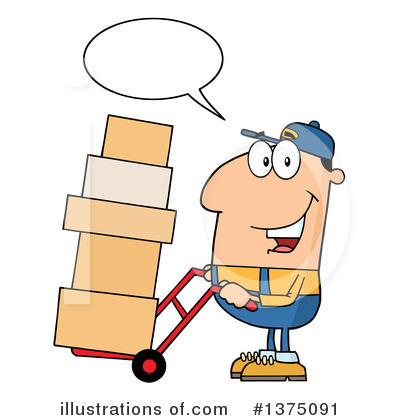 Delivery Man Clipart #1375091 by Hit Toon