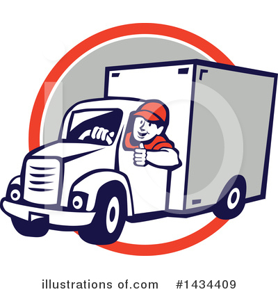 Delivery Man Clipart #1434409 by patrimonio