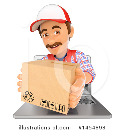 Delivery Man Clipart #1454898 by Texelart