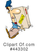 Delivery Man Clipart #443302 by toonaday