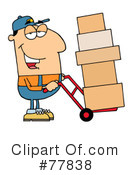 Royalty-Free (RF) delivery man Clipart Illustration #77838