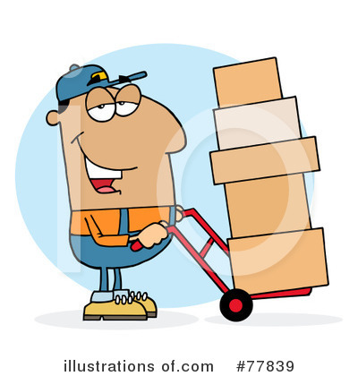 Delivery Man Clipart #77839 by Hit Toon