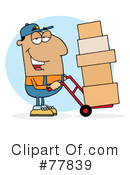 Royalty-Free (RF) delivery man Clipart Illustration #77839