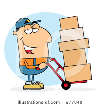 Delivery Man Clipart #77840 by Hit Toon