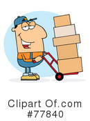 Royalty-Free (RF) delivery man Clipart Illustration #77840