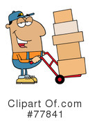 Royalty-Free (RF) delivery man Clipart Illustration #77841