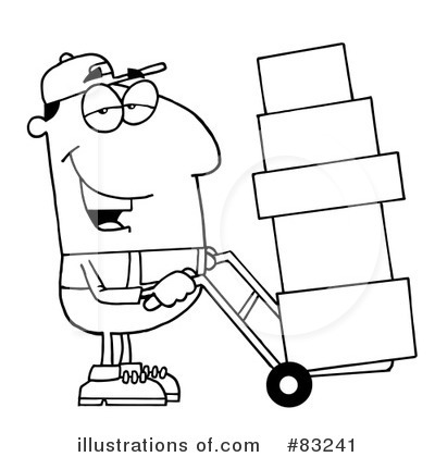 Delivery Man Clipart #83241 by Hit Toon