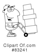 Royalty-Free (RF) delivery man Clipart Illustration #83241