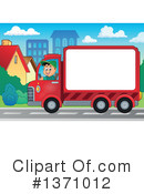 Delivery Truck Clipart #1371012 by visekart