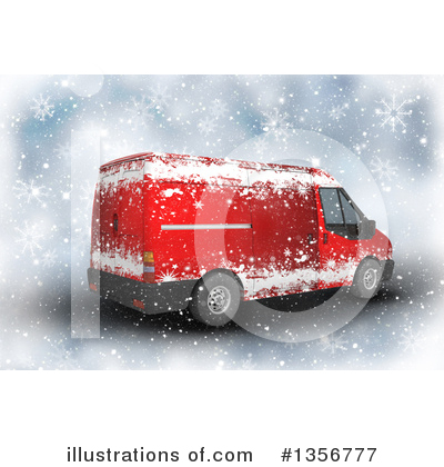 Delivery Van Clipart #1356777 by KJ Pargeter
