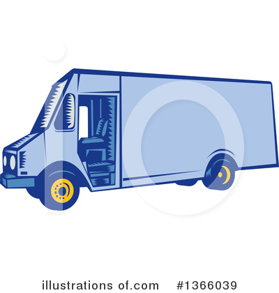 Delivery Van Clipart #1366039 by patrimonio
