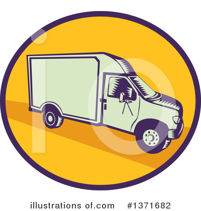 Delivery Van Clipart #1371682 by patrimonio