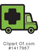 Delivery Van Clipart #1417967 by Lal Perera