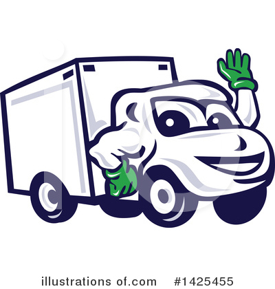 Delivery Van Clipart #1425455 by patrimonio