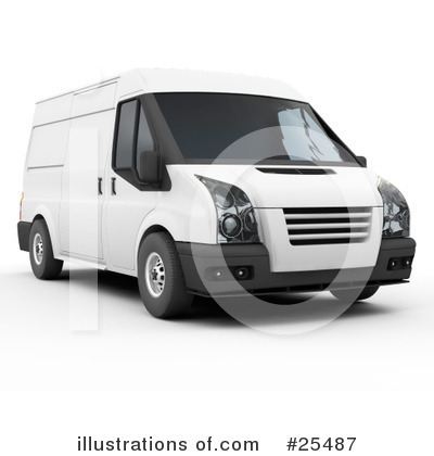 Delivery Van Clipart #25487 by KJ Pargeter